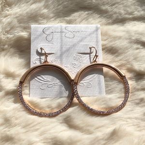 Jessica Simpson Rose Gold Earrings